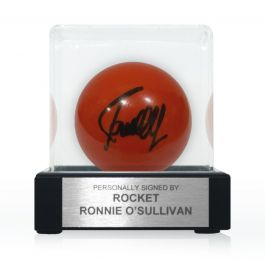 Ronnie O'Sullivan Signed Red Snooker Ball. In Display Case With Plaque