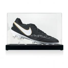 Paolo Maldini Signed Tiempo Football Boot In Display Case