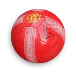 Paul Scholes Signed Manchester United Football Red