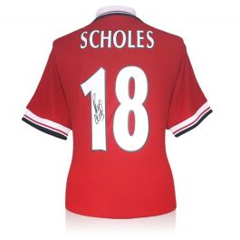 Paul Scholes Signed Manchester United Shirt 1998