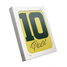 Pele Number 10 Brazil Football Shirt Signed On The Back In Gift Box