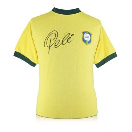 Pele Signed Brazil 1970 Football Shirt