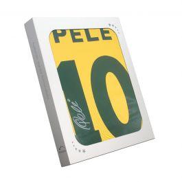 Pele Back Signed Brazil Shirt In Gift Box