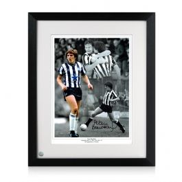 Framed Peter Beardsley Signed Newcastle United Photo