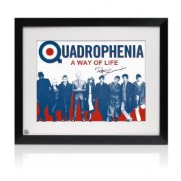 Framed Phil Daniels Signed Quadrophenia Poster: A Way Of Life