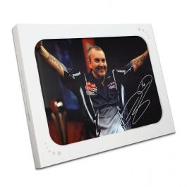 Phil Taylor Signed Darts Photo: Power And Glory In Gift Box