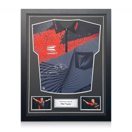 Phil The Power Taylor Signed Darts Shirt 2018. Standard Frame