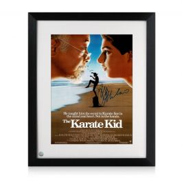 Ralph Macchio Signed The Karate Kid Poster. Framed