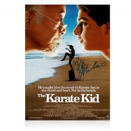 Ralph Macchio Signed The Karate Kid Poster