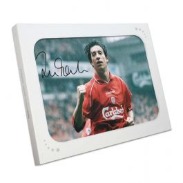 Robbie Fowler Signed Liverpool Photo: Goal Against Manchester United. In Gift Box