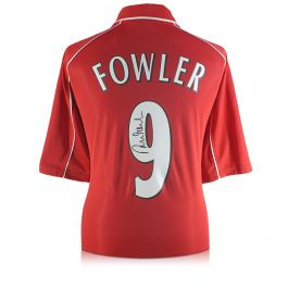 Robbie Fowler Signed Liverpool Number 9 Shirt 2001