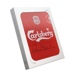 Robbie Fowler Signed 2001 Liverpool Football Shirt. In Gift Box