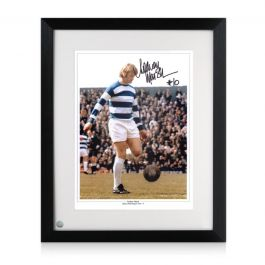 Rodney Marsh Signed QPR Photo Framed