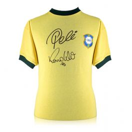 Ronaldo de Lima and Pele Signed Brazil Shirt