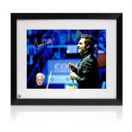 Ronnie O'Sullivan Signed Snooker Photo: 1000th Century. Framed