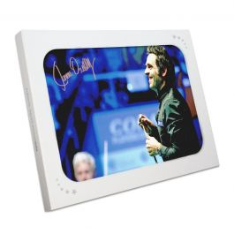 Ronnie O'Sullivan Signed Snooker Photo: 1000th Century. In Gift Box