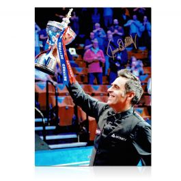 Ronnie O'Sullivan Signed Snooker Photo: Sixth World Snooker Title