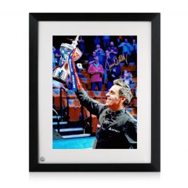 Ronnie O'Sullivan Signed Snooker Photo: Sixth World Snooker Title. Framed