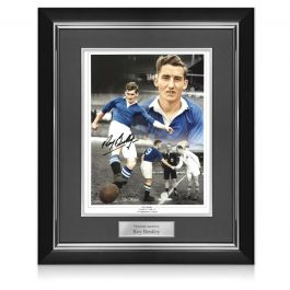 Roy Bentley Signed Chelsea Photo. Deluxe Frame