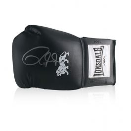 Roy Jones Junior Signed Black Boxing Glove