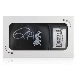 Roy Jones Junior Signed Black Boxing Glove In Gift Box