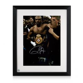 Roy Jones Jr Signed And Framed Boxing Photo: Heavyweight Champion