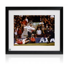 Ryan Giggs Signed Manchester United Photo: FA Cup Wonder Goal. Framed