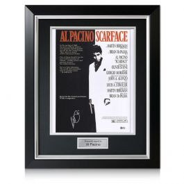 Al Pacino Signed Scarface Film Poster In Deluxe Frame