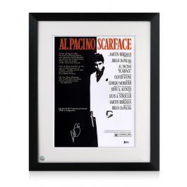 Al Pacino Signed Scarface Film Poster. Framed