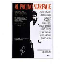 Al Pacino Signed Scarface Film Poster