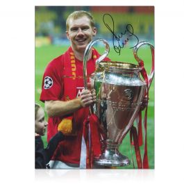 Paul Scholes Signed Manchester United Photo: Champions League Winner