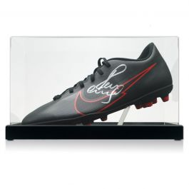 Paul Scholes Signed Football Boot. In Display Case