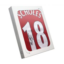 Paul Scholes Signed Manchester United Shirt. In Gift Box
