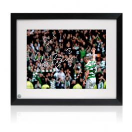 Framed Scott Brown Signed Photo: 5-1 Win At Ibrox