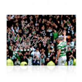 Scott Brown Signed Celtic Photo: 5-1 Win At Ibrox