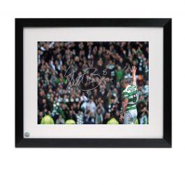 Scott Brown Signed Celtic Photo: The Captain. Framed