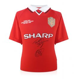 Teddy Sheringham And Ole Gunnar Solskjaer Signed 1999 Manchester United Shirt