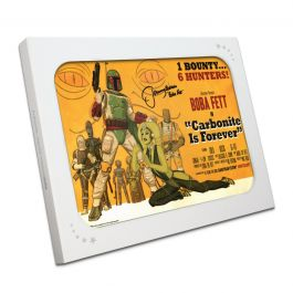 Boba Fett Signed Carbonite Is Forever Poster In Gift Box