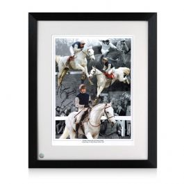 Richard Dunwoody Signed Horse Racing Photo: Desert Orchid. Framed