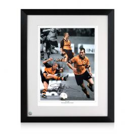 Steve Bull Signed And Framed Wolves Photo: Wolves Legend