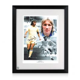 Tony Currie Signed Leeds United Photo. Framed