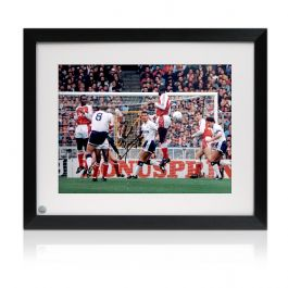 Signed And Framed Paul Gascoigne Spurs Photograph: Arsenal Free-Kick