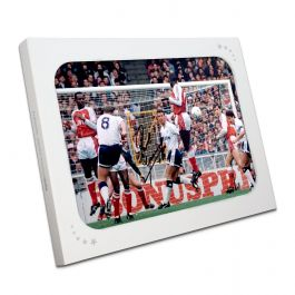 Paul Gascoigne Signed Spurs Photograph: Arsenal Free-Kick. In Gift Box