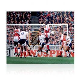 Paul Gascoigne Signed Spurs Photograph: Arsenal Free-Kick