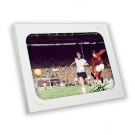 Geoff Hurst Signed England Football Photo: 1966 World Cup. In Gift Box