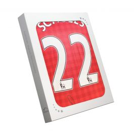 Paul Scholes Signed Manchester United Shirt 2012-13. In Gift Box