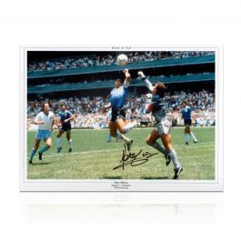 Peter Shilton Signed England Photo: The Hand Of God