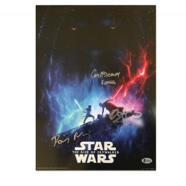 Daisy Ridley, Adam Driver & Ian McDiarmid Signed Star Wars Poster: The Rise Of Skywalker
