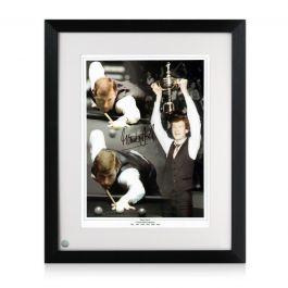 Steve Davis Signed Snooker Photo. Framed