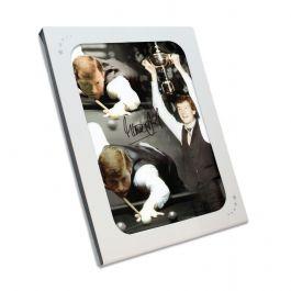 Signed Steve Davis Snooker Photo In Gift Box